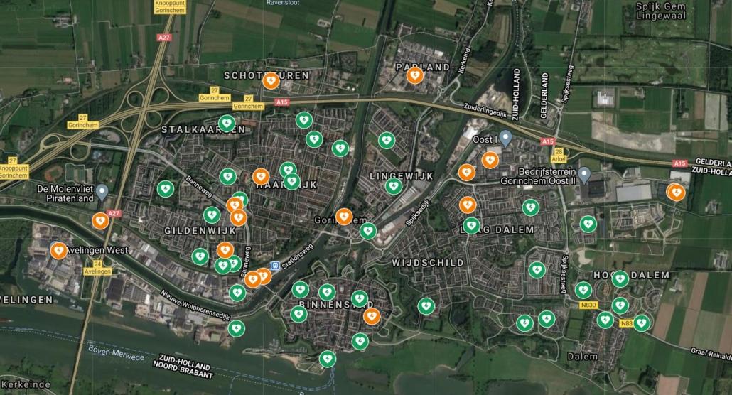 Alle AED's in Gorinchem